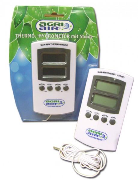 Thermo-/Hygrometer digital mit Sonde