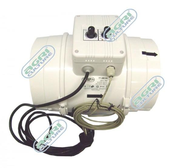 Diagonalventilator TT 200mm UN - inkl. Klimacontroller