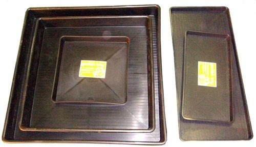 Garland Wanne 100x100x12cm - schwarz