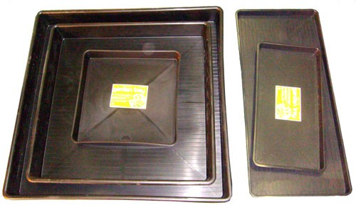 Garland Wanne 120x120x12cm - schwarz
